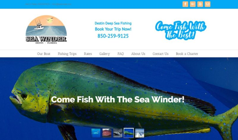 New Sea Winder Website Homepage